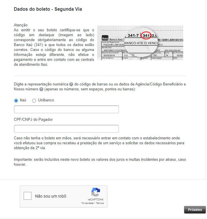 Como Emitir Segunda Via do Boleto Itaú pelo Site
