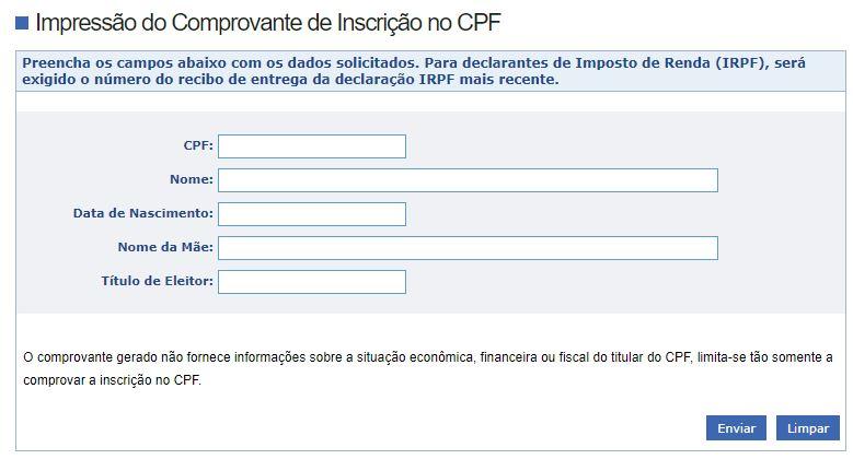 Como Tirar a 2ª Via CPF Online