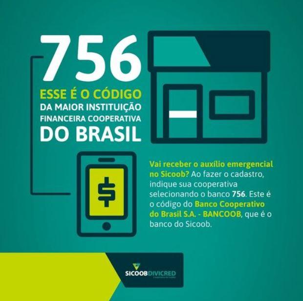 Código Banco Sicoob