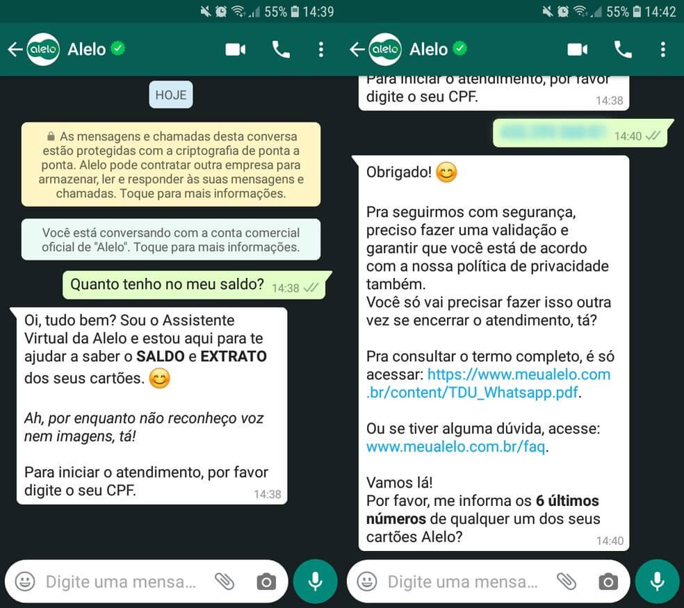 Consulta pelo Whats