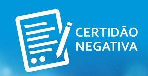 Certidão negativa Receita Federal CPF